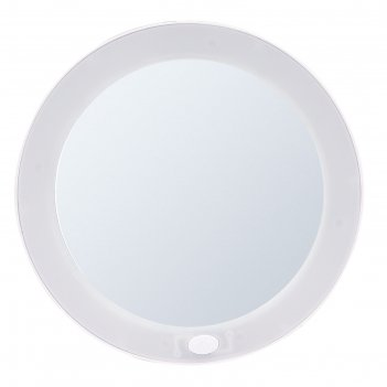 Зеркало косметическое на присосках mulan, 5х, led, цвет белый