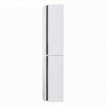 Шкаф-колонна aquaton «рене», доводчик, цвет белый, грецкий орех