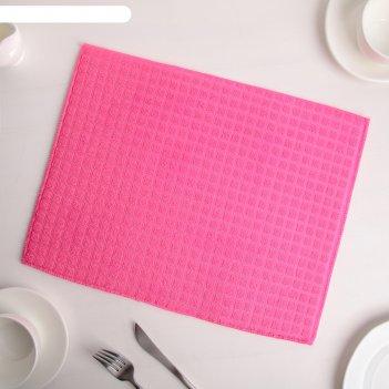 Коврик для сушки посуды 30x40 см, микрофибра, цвет розовый