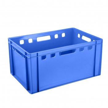 Ящик пластиковый, 210 е3п, 60х40х30см, синий