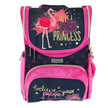 Ранец стандарт devente mini 35 х 26 х 20 см, flamingo, синий/розовый