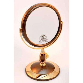 Зеркало b6 806 brz/g bronze gold настольное 2-стор. 5-кр.ув