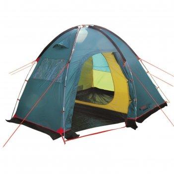 Палатка, серия casmping dome 3, зеленая, 3-местная