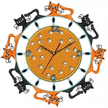 """Часы настенные tiarella """"кошки"""""""