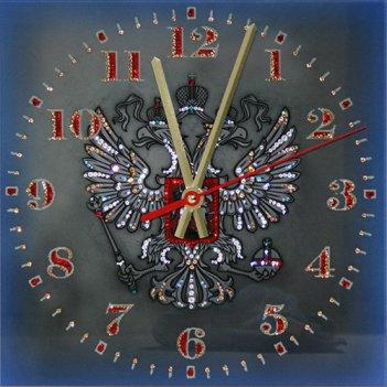 Картина сваровски - часы герб рф