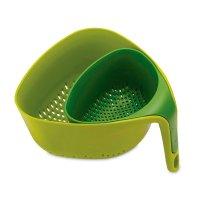 Дуршлаг nest, материал: пластик, размер: 22,1 х 13,3 х 23,5 см, цвет: зеле
