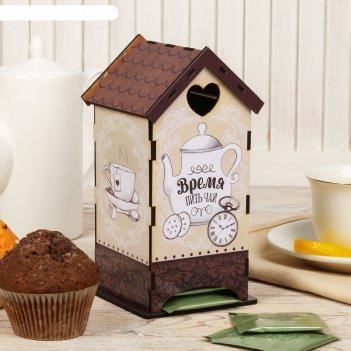 Чайный домик время пить чай, 20х8,6 см