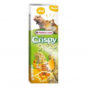 Палочки versele-laga  crispy для хомяков и песчанок, с медом, 2х55 г
