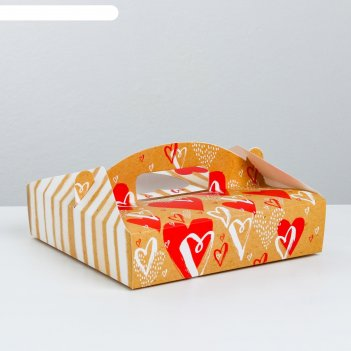 Переноска под пирожные «любовь к сладостям», 20 x 5 x 20 см