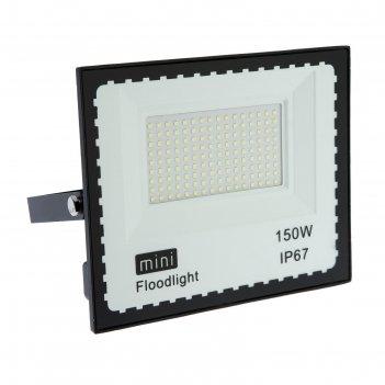 Прожектор светодиодный luazon lighting 150 вт, 11550 лм, 6500к, ip66,  220