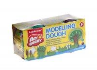 Пластилин на растительной основе modelling dough, 2бан*100г, зеленый и кор