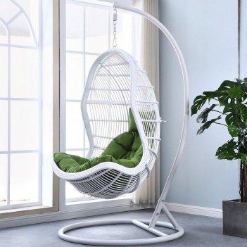 Подвесное кресло cocoon chair 710 white, садовая мебель