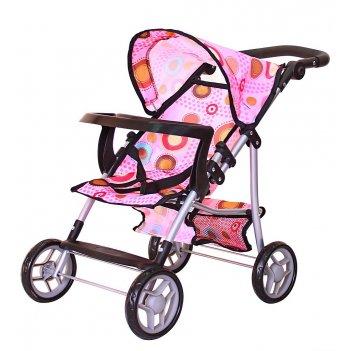 9366т-1 кукольная коляска rt цвет разноцветные круги