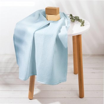 Полотенце голубой 70х150 см, 100% хлопок, ваф. полотно, 160 гр/м2