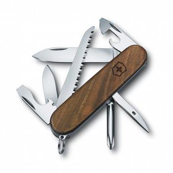 Нож перочинный victorinox hiker, 91 мм, 11 функций, деревянная рукоять