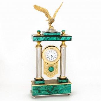 Часы орел камень малахит