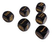 Кубики гадальные офисные, черные