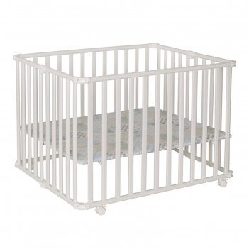 Детский манеж ameli 106,5 х 90 см, белый 04