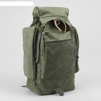 Рюкзак туристический, отдел на шнурке, 4 наружных кармана, 2 боковых карма