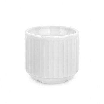 Подставка для яиц, диаметр: 4,8 см, материал: фарфор, цвет: белый, серия p