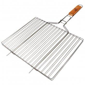 Решетка гриль для мяса средняя, нерж сталь, размер 340*286