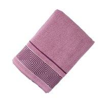 Полотенце махровое банное fiesta kvadrro, размер 70х130 см, цвет фиолетовы