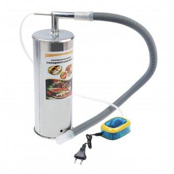Коптильня холодного копчения дым дымыч 02,, дымогенератор, серебристая