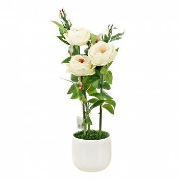 Композиция декоративная (с подсветкой) роза кустовая (с эффект