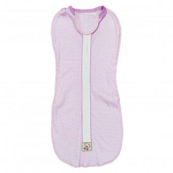 Пеленка-кокон на молнии а.1053и, цвет розовый, рост 62