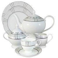 Сервиз чайный «шенонсо», 40 предмет, на 12 персон, материал: фарфор, anna