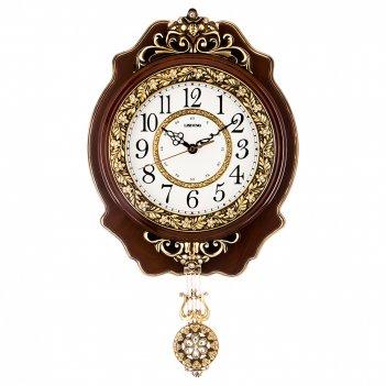 Часы настенные кварцевые с маятником 32*7,5*55 см. диаметр=19 см. (кор=15ш