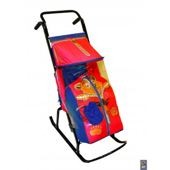Санки-коляска снегурочка-2-рмедвежоноксин-крас