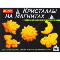Набор для опытов кристаллы на магнитах желтые 12126001