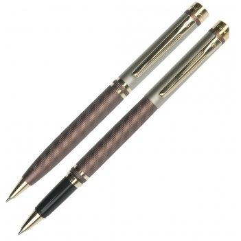 Набор: ручка шариковая + роллер pierre cardin  pen and pen,