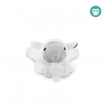 Держатель для пустышки с игрушкой zazu «овечка лиззи», 0+ мес