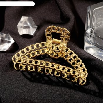 Краб для волос дороти контур, 7 см, золото