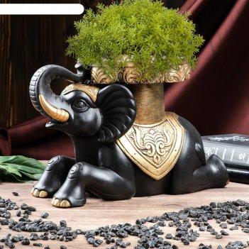 Статуэтка слон №7 большой 32*22 см чёрный
