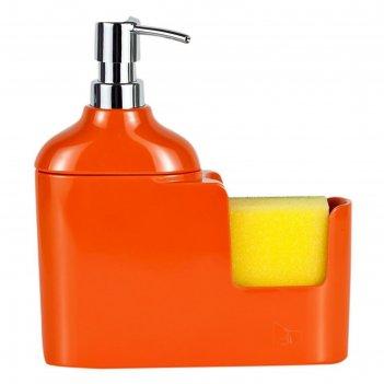 Дозатор для моющих жидкостей 300 мл veroni, цвет оранжевый