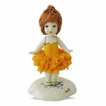 50040 маленькая балерина в оранжевом h 13,5 см