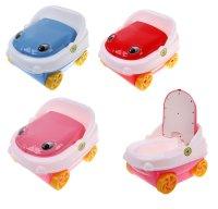 Горшок детский машинка, музыкальный, с крышкой, цвета микс