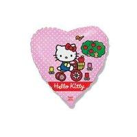Шар фольгированный сердце 18 hello kitty на велосипеде фм