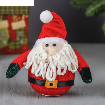 Ёлочная игрушка световая красавец дед мороз