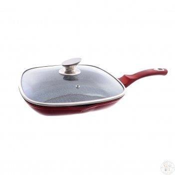 Гриль-сковорода с крышкой berlinger haus burgundy metallic line 28см
