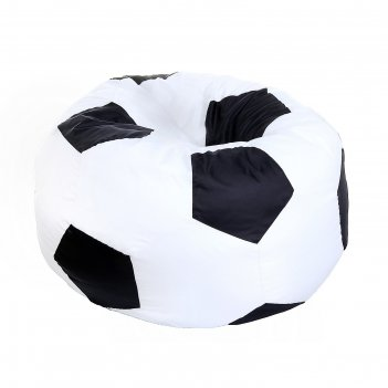 Кресло-мешок футбольный мяч, d85, цвет черно-белый
