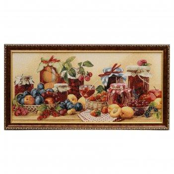 Гобеленовая картина 70х37 см натюрморт с фруктами