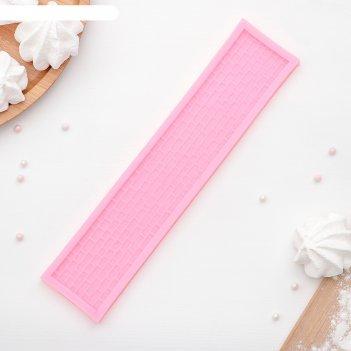 Молд силиконовый «кирпич», 25x5,4 см