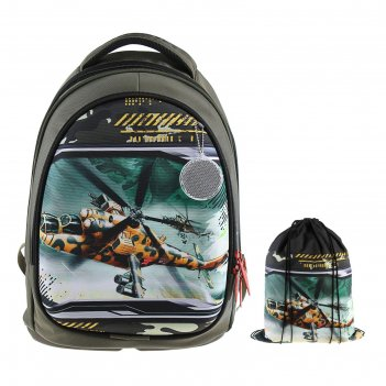 Рюкзак каркасный luris пони 38x28x18 см пони + мешок для обуви, для мальчи