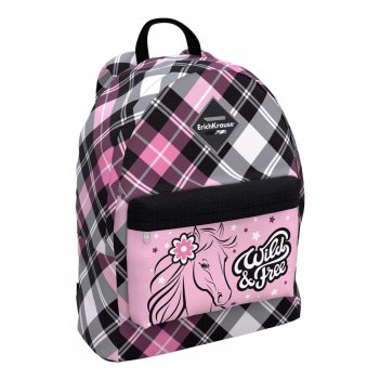Рюкзак школьный erich krause easyline 39 х 29 х 13, 17l flower horse, чёрн