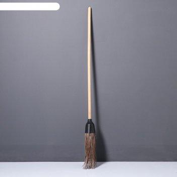 Метла деревянная, 140 см, 4 фланца, массив бука