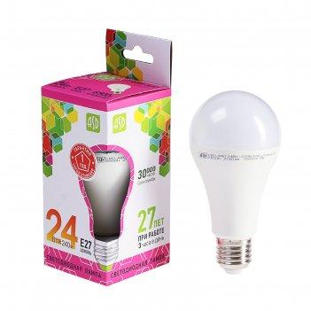 Лампа светодиодная asd led-a60-standard, е27, 24 вт, 230 в, 6500 к, 2160 л